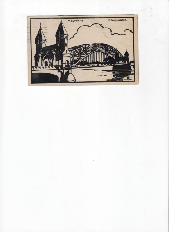 Magdeburg, Königsbrücke / bridge, silhouette