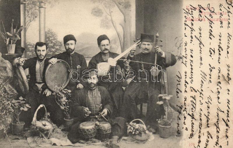 Caucasian music band, folklore