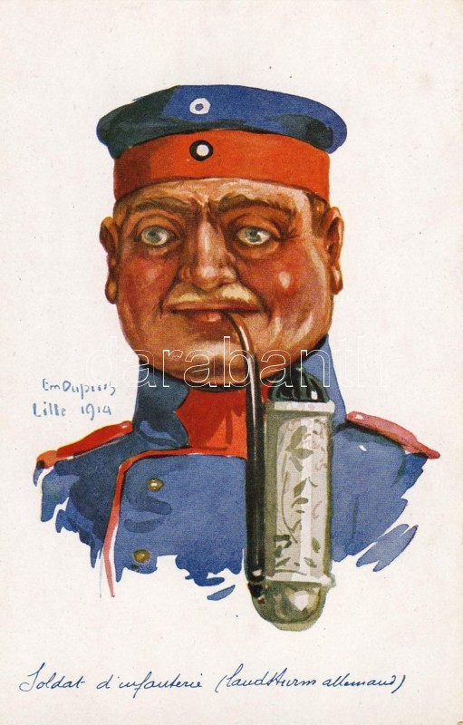 German army, infantryman s: E. Dupuis, Német hadsereg, gyalogos, s: Em. Dupuis