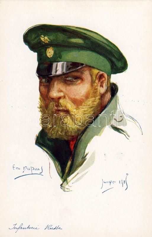 Russian army, infantryman, s: Em. Dupuis, Orosz hadsereg, gyalogos, s: Em. Dupuis