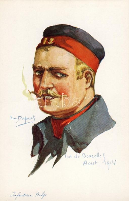 Belgian army, infantryman s: Em. Dupuis, Belga hadsereg, gyalogos, s: Em. Dupuis