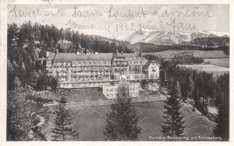 Semmering Kurhaus, Schneeberg