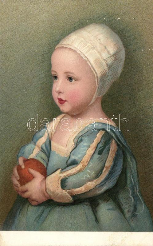 Van Dyck: Portrait of the son of Charles I of England, litho, Van Dyck: I. Károly fiának arcképe, Anglia, litho