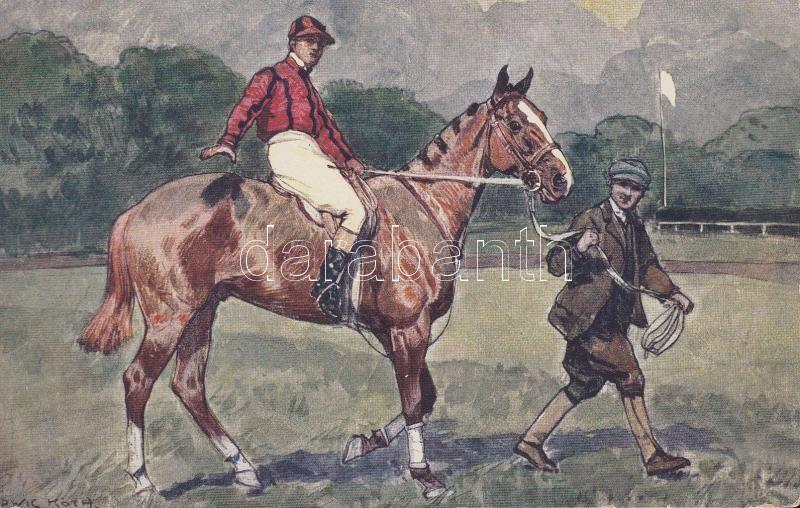 Horse Racer, B.K.W.I. 494-1 s: Ludwig Koch, Lóversenyző, B.K.W.I. 494-1 s: Ludwig Koch