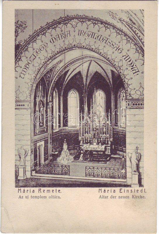 Budapest II. Máriaremete, Új templom, oltár, belső