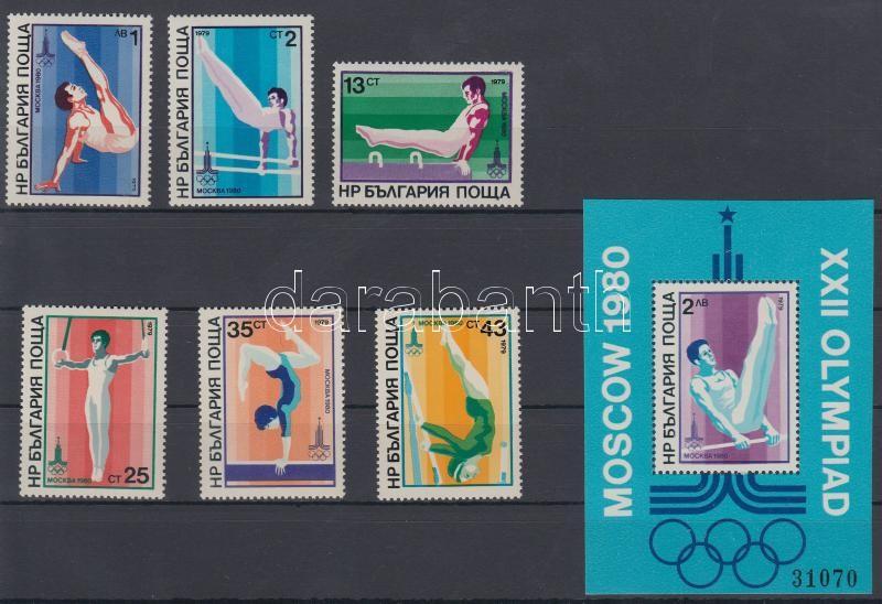 Summer Olympics, Moscow set + block, Moszkvai nyári olimpia sor + blokk