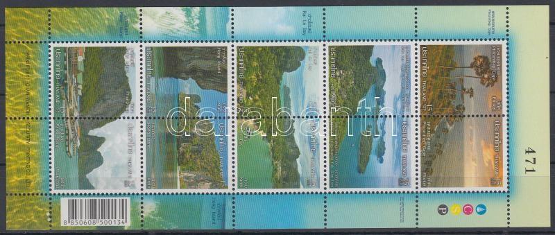 Landscapes, seashores mini-sheet, Tájak, tengerpartok kisív