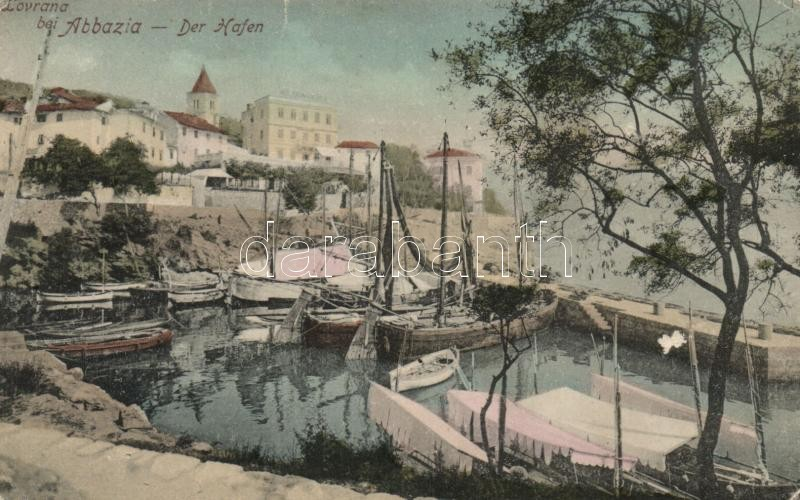 Lovran, Lovrana; Hafen / port, Lovran, kikötő
