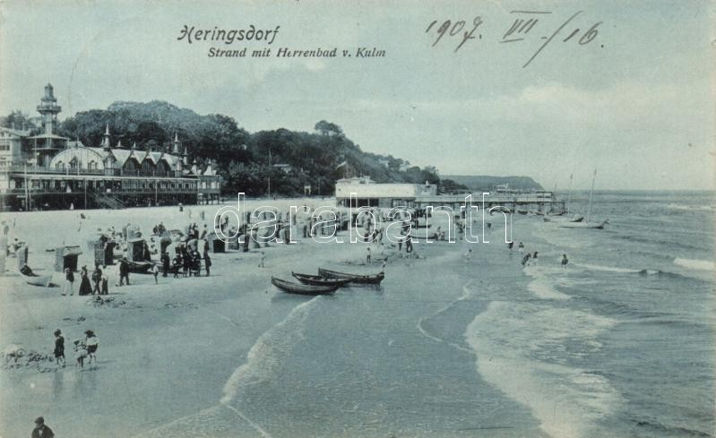 Heringsdorf, Strand, Herrenbad v. Kulm / beach