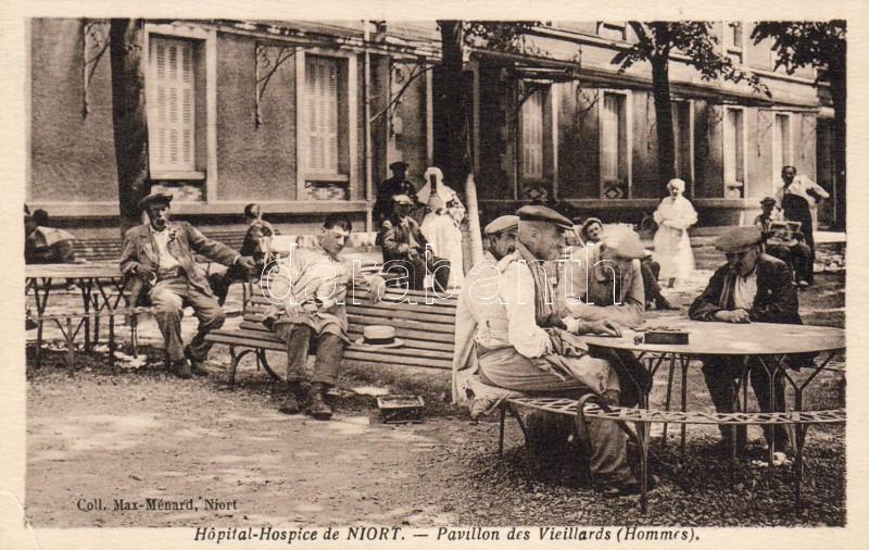 Niort hospital, the pavilion of the old men, Niort kórház, idős férfiak pavilonja
