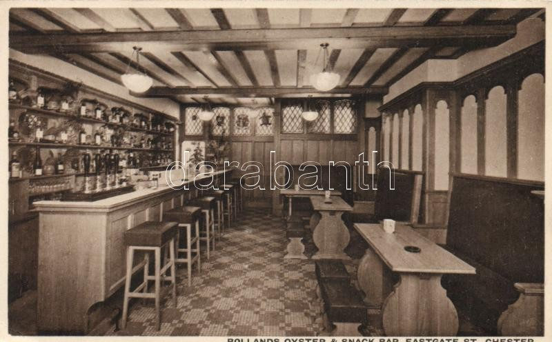 Chester, Bollands Oyster & Snack Bar, Eastgate Street / interior view