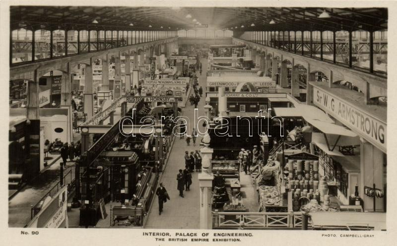 1924 Wembley, British Empire Exhibition, Palace of Engineering interior