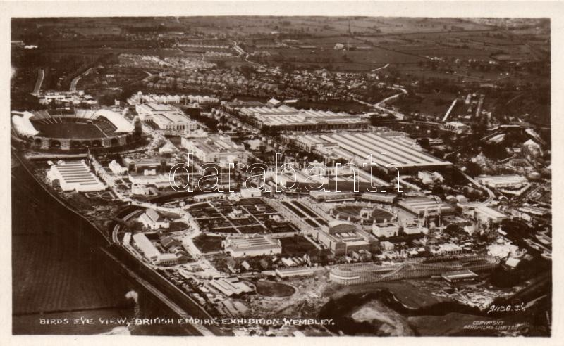 1924 Wembley, British Empire Exhibition, birds eye view