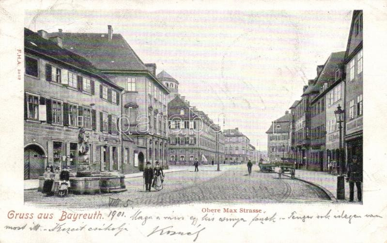 Bayreuth, Obere Max Strasse / street, fountain