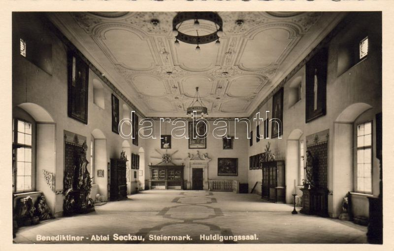 Seckau monastery, hall of honour interior, Seckau Benediktinerabtei, Huldingungssaal