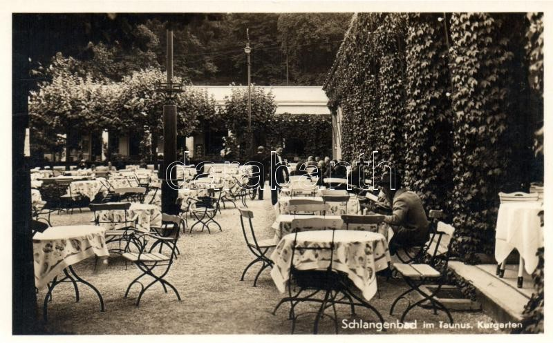 Schlangenbad, Kurgarten / garden of sanatorium