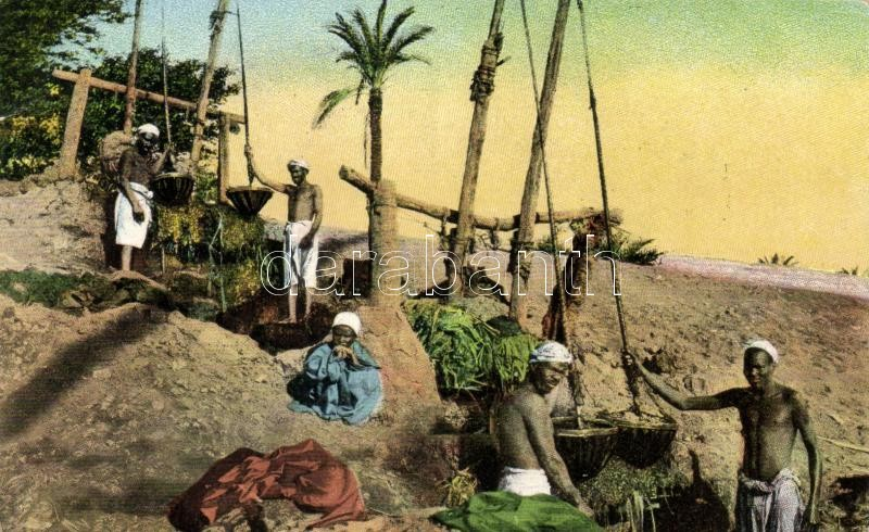 Egyiptomi folklór, gémeskút, Egyptian folklore, shaduf