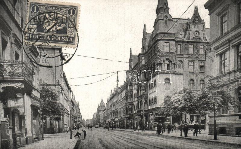 Katowice, Kattowitz; Grundmann street, cigarette shop