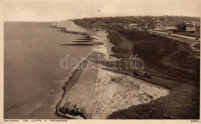 Saltdean cliffs and promenade (pinhole)