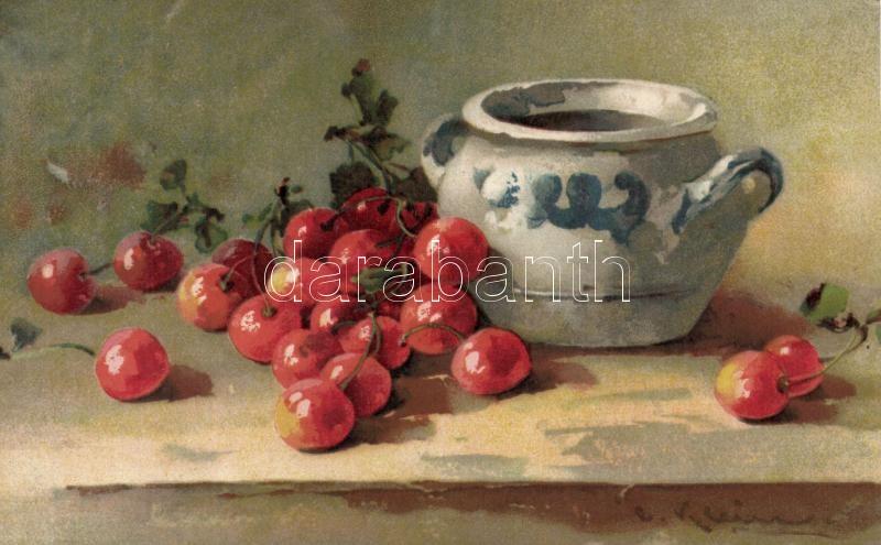 Cseresznyék, litho s: Klein, Cherries, litho s: Klein