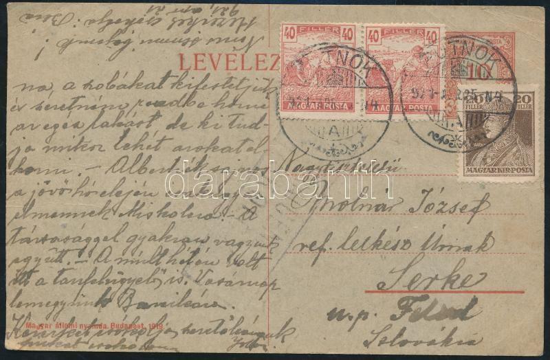 Censored postcard to Czechoslovakia, (2. díjszabás) Cenzúrás levelezőlap Csehszlovákiába