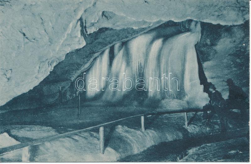 Dobsiná, ice cave, waterfall, Dobsinai jégbarlang, Vízesés, Fejér Endre kiadása