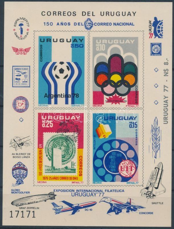 UPU, Olympics, World Cup, World Youth set in imperforated block form, UPU, olimpia, labdarúgó vb, VIT sor vágott blokkformában