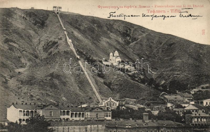 Tbilisi, Tiflis; Funicular and St. David Church