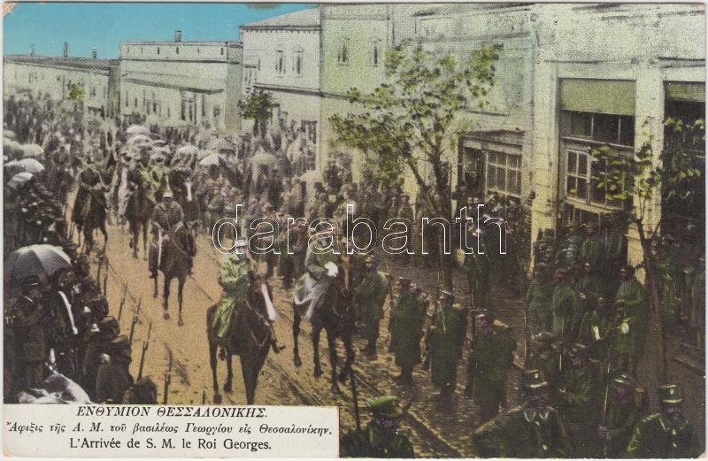 Thessaloniki, Entry of the Greek troops, George I of Greece