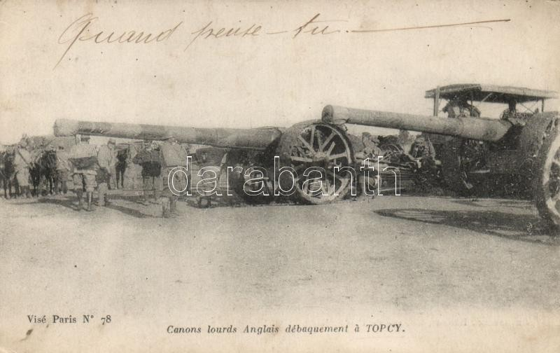 Torcy, English cannons landing
