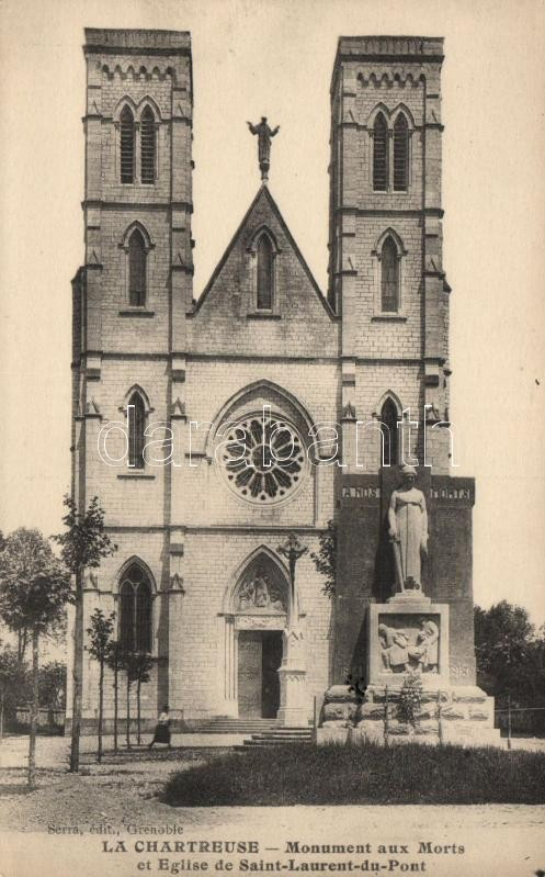Saint-Laurent-du-Pont, Eglise, Monument aux Morts / church, monument