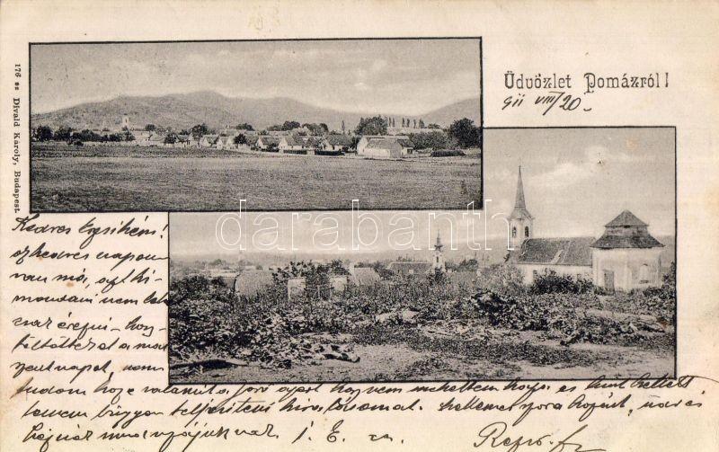 Pomáz, templom, Divald Károly kiadása
