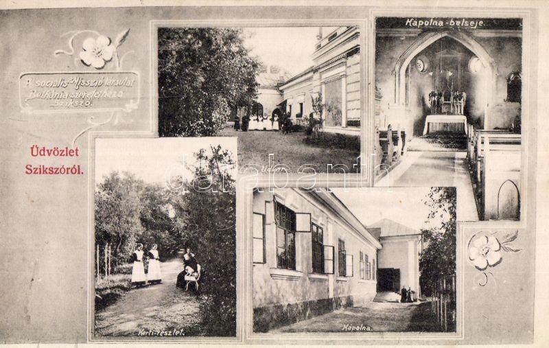 Szikszó, Szociális Missziótársulat Bethánia Szeretetháza, udvar, Kápolna és belseje, kert