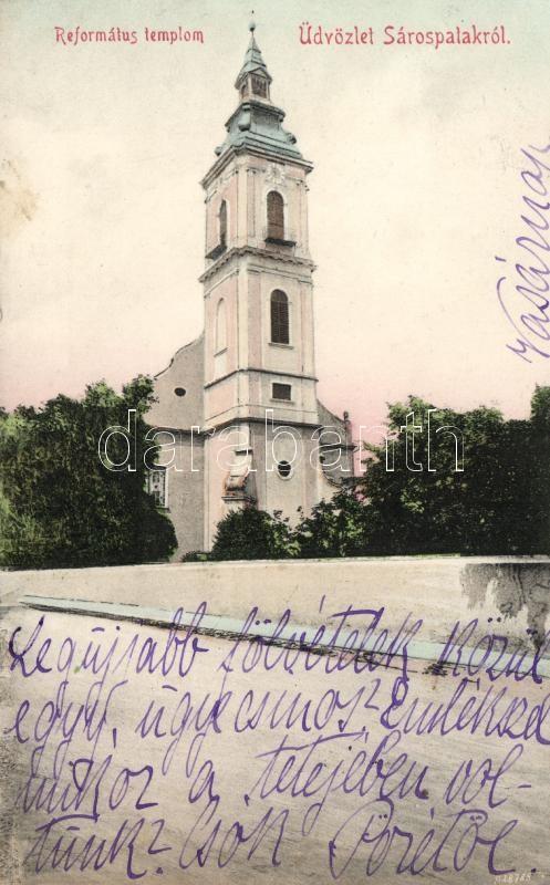 Sárospatak, Református templom; Radil Károly kiadása