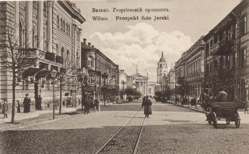 Vilnius, Wilna; Prospekt Szto Jerski / boulevard