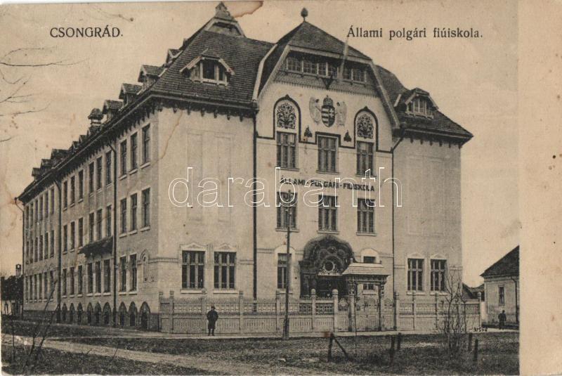 Csongrád, Állami polgári fiú iskola, Bozó és Justin kiadása