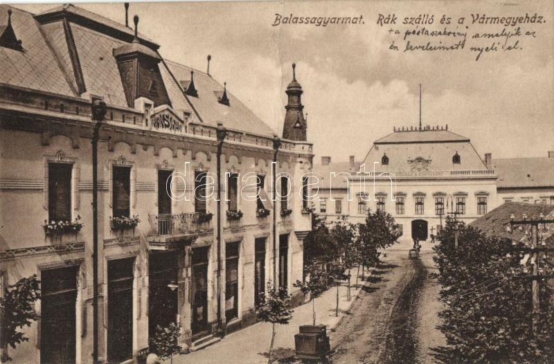 Balassagyarmat, Rák szálló, Vármegyeház, Kondor Sándor kiadása