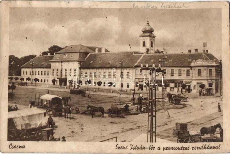 Csorna, Szent István tér, premontrei rendház