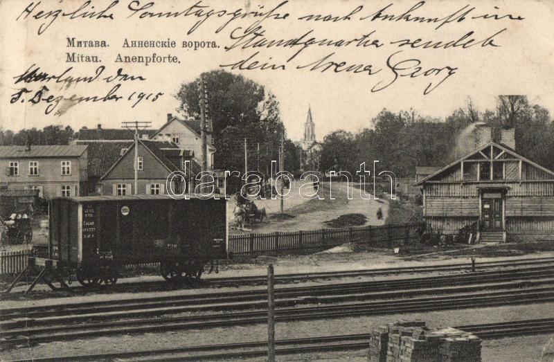 Jelgava, Mitau, Anenpforte / railroad