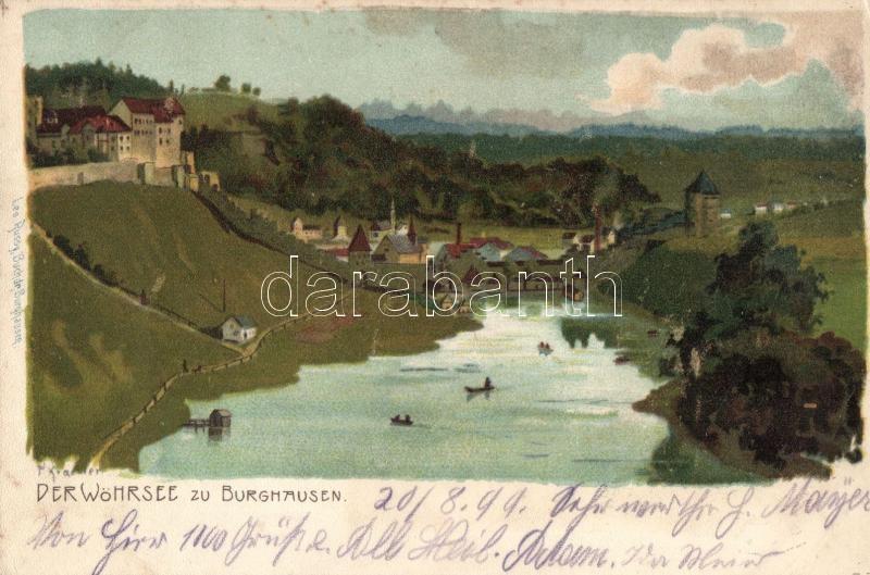 1899 Burghausen, Wöhrsee / lake s: P. Kraemer