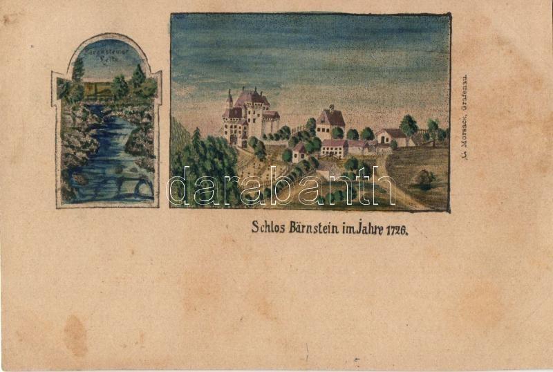 1898 Grafenau, Schloss Bärnstein in 1726 / castle (cut)