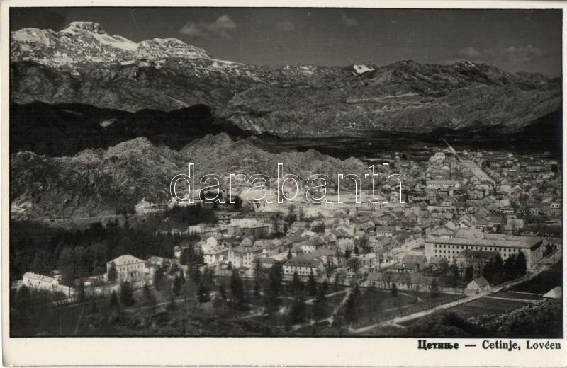 Cetinje, Lovcen / view
