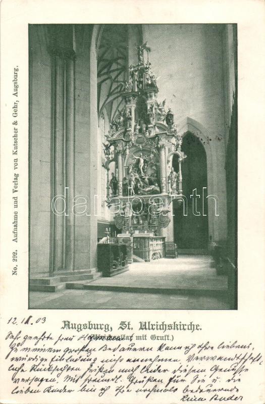 Augsburg, St. Ulrichskirche / church interior