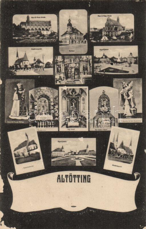 Altötting, town hall, church
