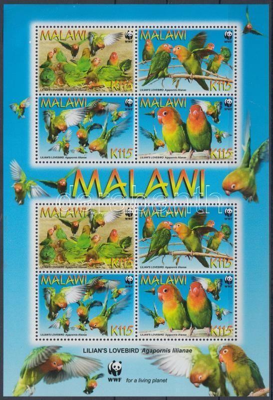 WWF: Papagájok kisív, WWF: Parrots mini sheet