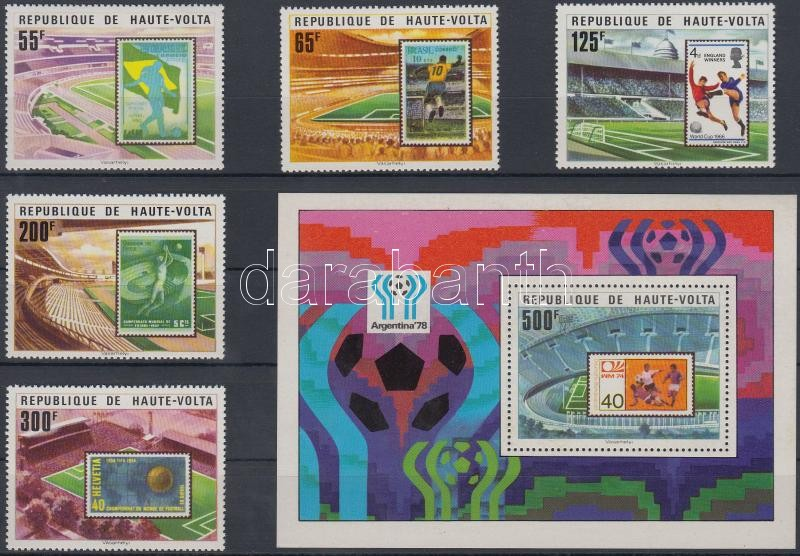 Football World Cup set + block, Labdarúgó VB sor + blokk