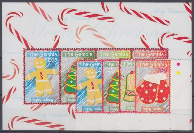 Christmas corner set + mini sheet, Karácsony ívsarki sor + kisív