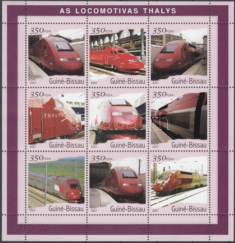 Thalys Locomotives mini sheet, Thalys mozdonyok kisív