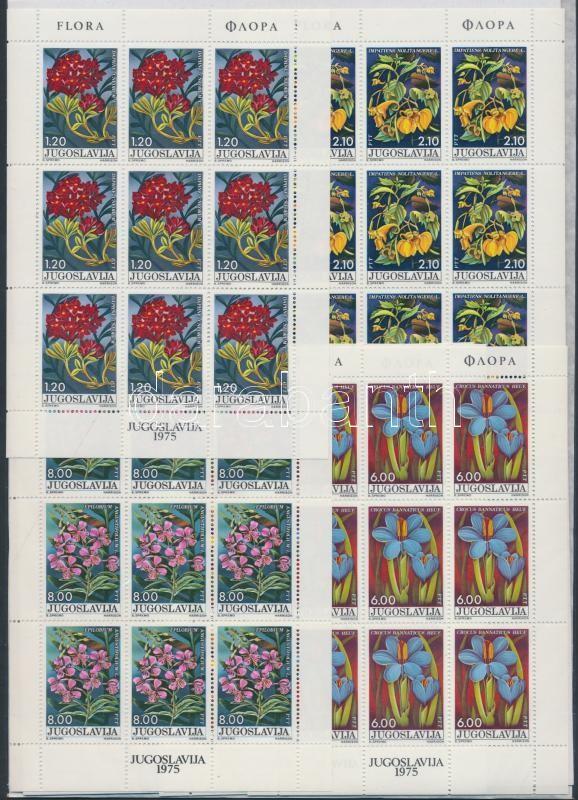 Flowers minisheet set, Virág kisív sor