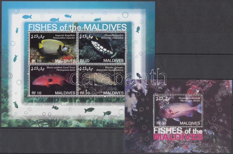 Fishes minisheet + block, Halak kisív + blokk